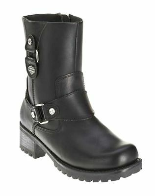 4493803aa23f Harley-Davidson® Women s ALIVIA Black Leather Motorcycle Biker Boots D84269