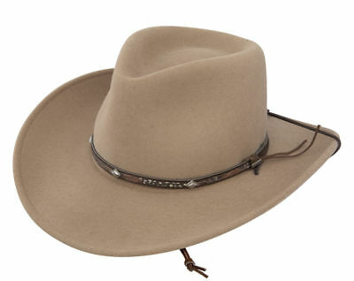 d1a15ac0 Stetson Mountain View Crushable Pinch Front Wool Western Hat SWMTVW-813279