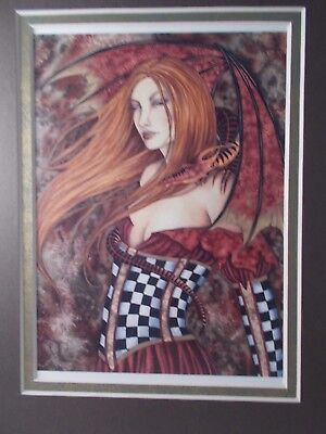 """Amy Brown - """"Dragon Keeper"""" -  8 """"  x  10 """" - Double Matted Print"""