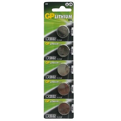 GP 2032 Lithium CELL battery 3V CR2032 DL2032 5 Pcs