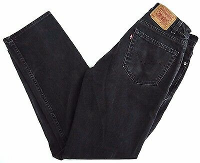 VINTAGE LEVIS 505 black denim jeans mens 33x32 red tab MADE IN USA faded 90s