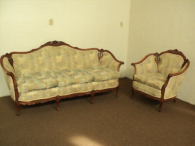 Antique French Provincial Sofa & Chair