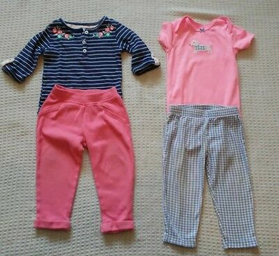 Baby Girl Carters outfits size 18 months lot