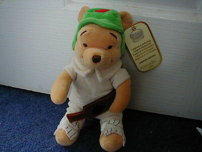 Disney Store Pooh Cricketer Limited Edition Beanbag Brand New Very Rare