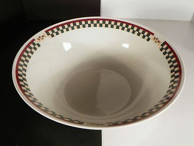 Betty Crocker COUNTRY INN Stoneware LARGE Pasta Popcorn Mixing Serving Bowl 12""