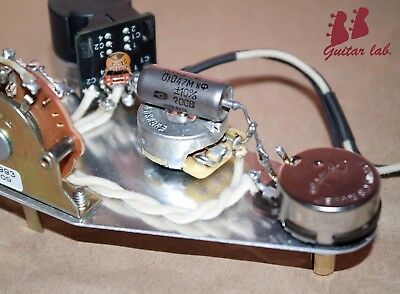Premium 7-WAY Wiring upgrade fits Fender Stratocaster .047 PIO,No Load,DPDT,Mod