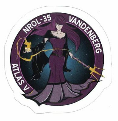 NROL-35 MISSION STICKER ~ American Recon Vandenberg Spy Satellite NSA NEW