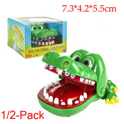 2x Funny Big Crocodile Mouth Dentist Bite Finger Toy Family Game For Kids Xmas