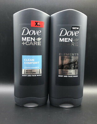 Dove Men Care Body And Face Mosture Wash Clean Comfort Twin Pack 400ml Each 14 99 Picclick
