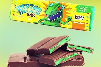 Limited edition RUGRATS REPTAR BAR turns your tongue GREEN