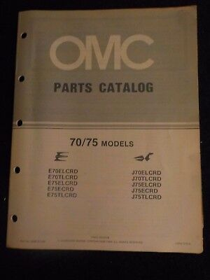 1984 OMC Johnson Evinrude Outboard Parts Catalog Manual 70 75 HP DEALER FACTORY
