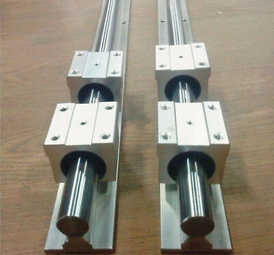 SBR20-2500mm LINEAR SLIDE GUIDE SHAFT 2 RAIL+4SBR20UU BEARING BLOCK CNC bk