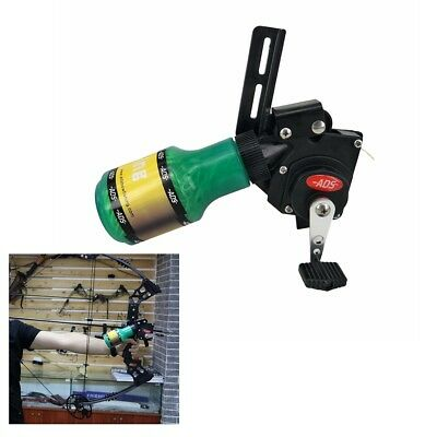 Pro Bow Fishing Reel Compound Recurve Bow Shooting Hunting Tool Black