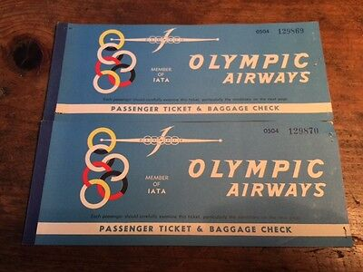 (2) Olympic Airways Tickets 1962