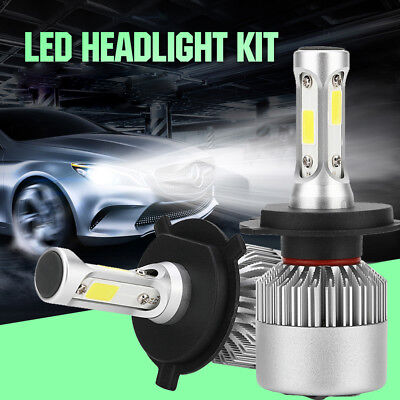 H4 9003 COB LED Car Headlight Bulb Hi-Lo Beam 72W 8000LM 6000K Auto Headlamp New