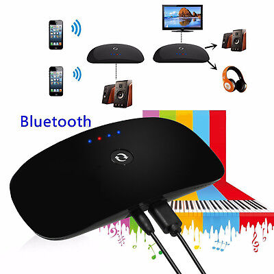 Wireless Bluetooth Audio Music Transmitter Aux Stereo Converter Receiver Adapter
