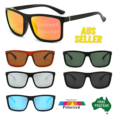 Polarized Mens Sunglasses Polarised New Style Square Frame Glasses Aus Seller