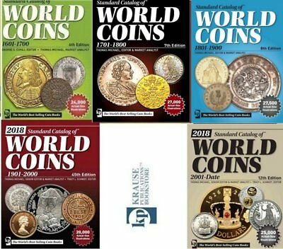 2018. ! Coins total catalogs 5 books set 2018. edition