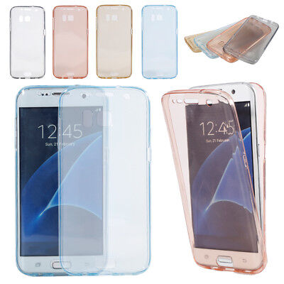 360 Degree Full Soft Clear TPU Case Protective Cover Case For Samsung S6 S7 HO1