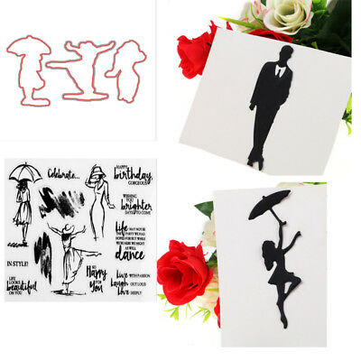 Dancing Women Transparent Clear Stamps&Cutting Dies DIY Scrapbooking Craft Decor