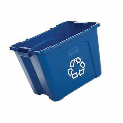 Rubbermaid Commercial Recycling Bin 14 Gallon Blue (FG571473BLUE) Single