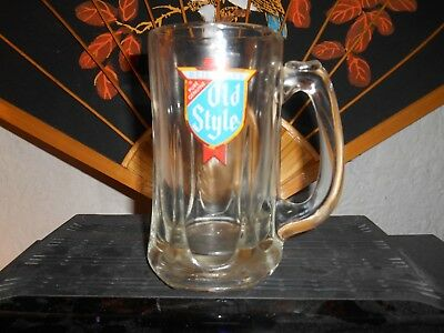 """Rare Vintage Heliman""""s Old Style Glass Beer Stein"""