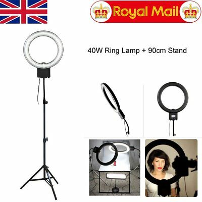 Studio 40W 5400K Ring Light with 90cm Light Stand for Beauty Makeup Photo Video