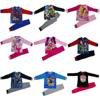 Offcial Kids Characters Disney Marvel Boys Girls 2pcs Pyjamas Set Sleepwear PJs