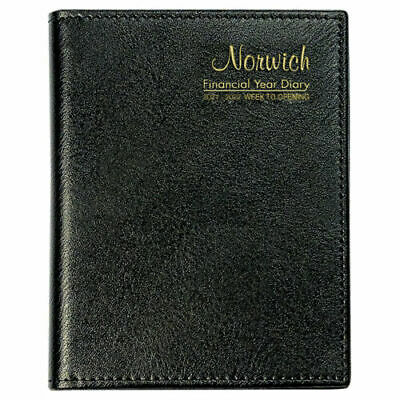 NORWICH 2020 2021 Financial Year Diary A6 Week To View Open Pocket 63SFY BLACK