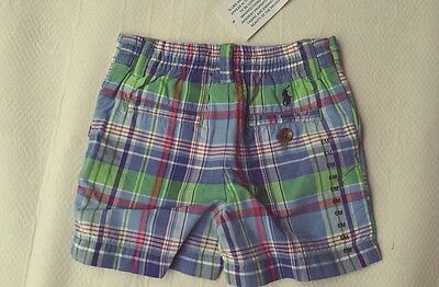 RALPH Lauren Baby Boy NWT check Cotton Summer Shorts Size 3 6 months PROSPECT
