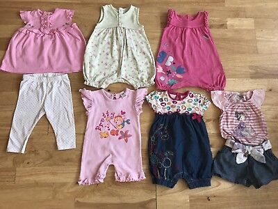 Bundle Baby Girls Clothes Spring Summer Holiday Age 3-6 Months