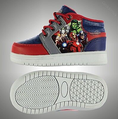Kids Boys Marvel Printed Ankle Boots Lace Up Trainers Comfortable Shoes