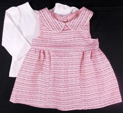 Early Days baby girl dress top pinafore pink ivory 0-3 month
