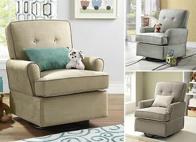 Swivel Glider Chair Nursery Baby Relax Gliding Chairs Living Room Furniture NEW