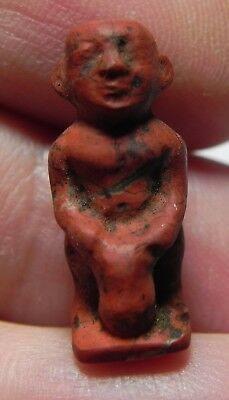 Zurqieh - Asw182- Ancient Egypt. New Kingdom. Red Jasper Ptaikos. 1400 B.c
