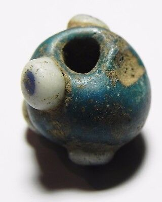 Zurqieh - Asw184- Ancient Egypt. Roman Eye Bead. Very Rare Type. 200 A.d