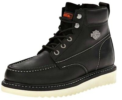 Harley-Davidson® Men's Beau Leather Casual Shoes Boots w/ White Soles D93135