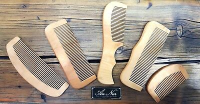 Beard Hair Moustache Wooden Pocket Comb 100% Natural Wood Anti Static