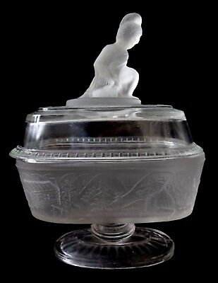 Westward Ho oval glass compote L. G. Wright