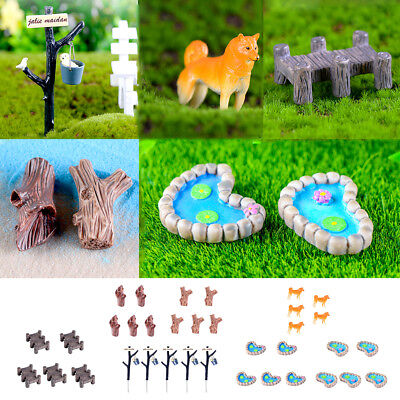 5pcs Set Resin Miniature Fairy Garden Dollhouse Bonsai DIY Mini Decor PICK