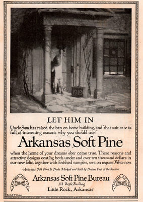 1919 A Ad Arkansas Soft Pine Naked Toddler Knocking On Door