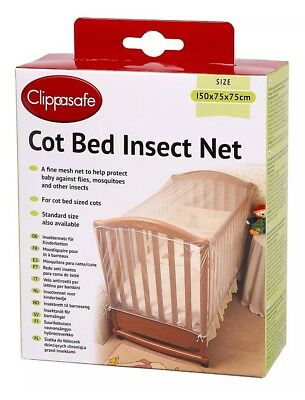 Clippasafe Cot Bed Insect Net Strong Mesh Prevent Cats Animals