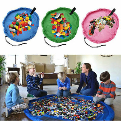 Large Portable Kids Toy Organizer Storage Bag Play Mat For Lego Rug Box 60 inche