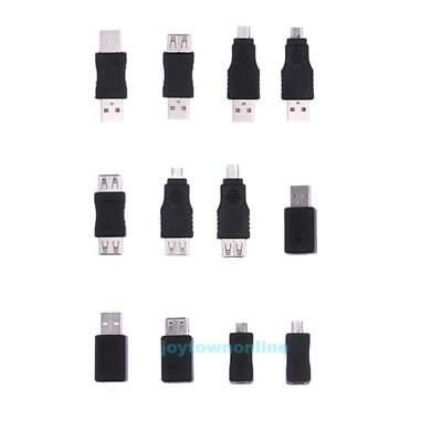 12pcs OTG 5 pin F/M mini Changer Adapter Converter USB Male to Female Micro USB