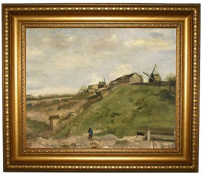 van Gogh The hill of Montmartre with quarry 1886 Framed Canvas Print Repro 16x20