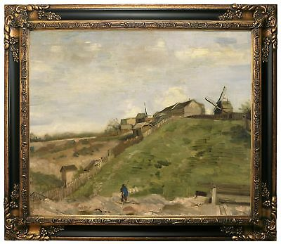 van Gogh The hill of Montmartre with quarry 1886 Framed Canvas Print Repro 20x24