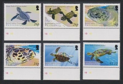 BIOT Turtles 6v Bottom Margins SG#312-317 SC#290-295