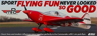 Eflite E-flite Commander MPD 1.4m PNP Plug In Play Electric RC Airplane EFL4875