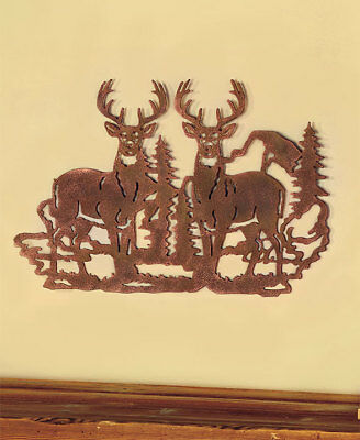 Metal Die Cut Deer Silhouette Wall Art Wildlife Cabin Lodge Rustic Home Decor