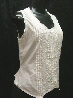 Camisole corset cover Victorian Vintage old west style all cotton S-XLarge New